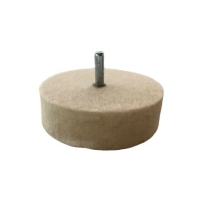 Rodízio de feltro com perno para polimento de vidro