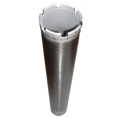 Segmented core drill for drill refractories