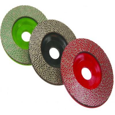 Discos lamelados diamantados para desbaste de pedra a seco ou com água