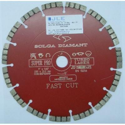 Disco de corte sinterizado segmentado ventilado